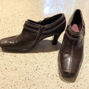 LIKE NEW!!! 3 inch heeled brown booties